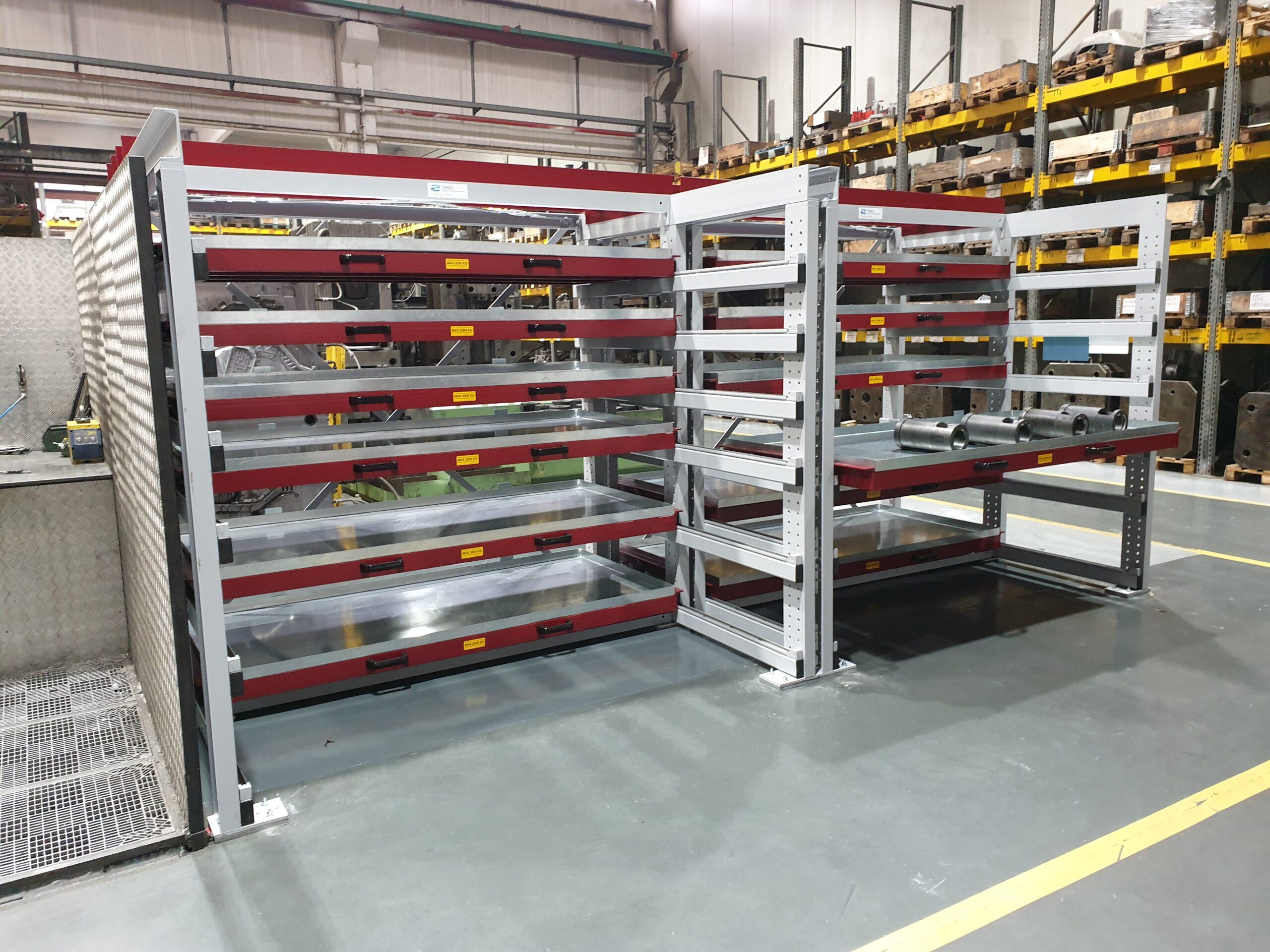 Impianti di magazzino Scaffalatura a cassetti estraibili