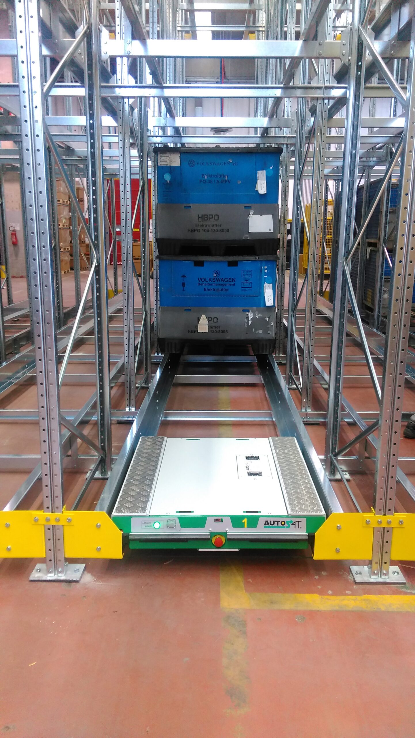 Scaffalatura automatizzata per magazzini
